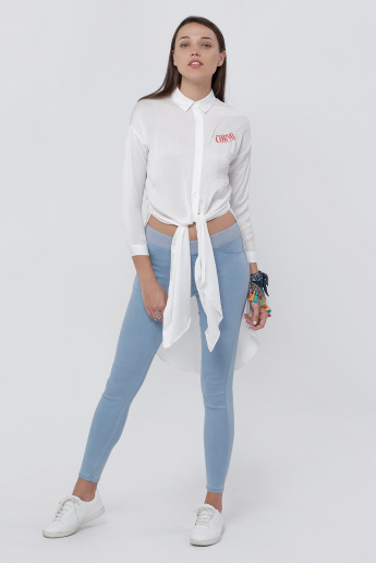 Embroidered Shirt tunic with Long Sleeves