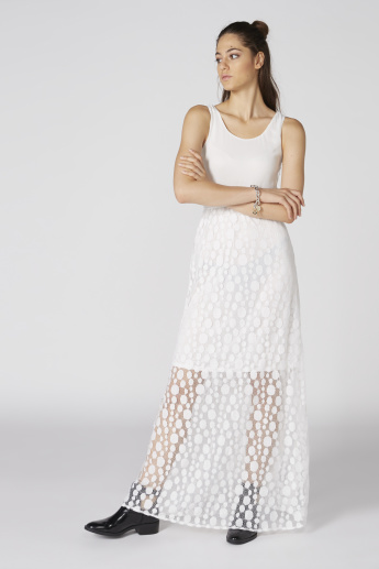 Sleeveless Maxi Dress with Lace Detail