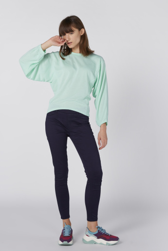 Round Neck Top with Dolman Sleeves
