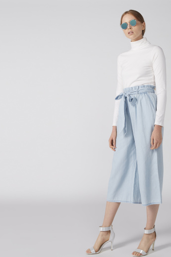 High-Rise Culottes with Paperbag Waist