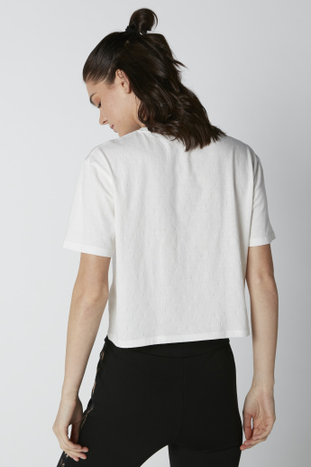 Printed T-Shirt in Relaxed Fit with Round Neck