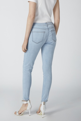 Kendall + Kylie Full Length Jeans with Pocket Detail and Zip Fly Closure