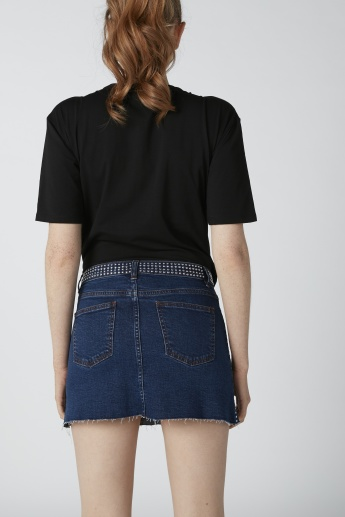 Kendall + Kylie Embellished Mini Skirt with Pocket Detail