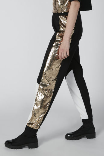 Sequin Detail Slim-Fit Jog Pants