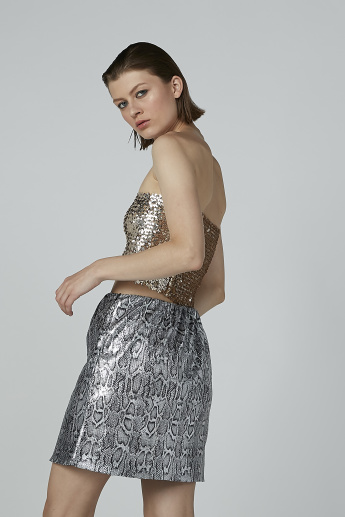 Sequin Detail Tube Top