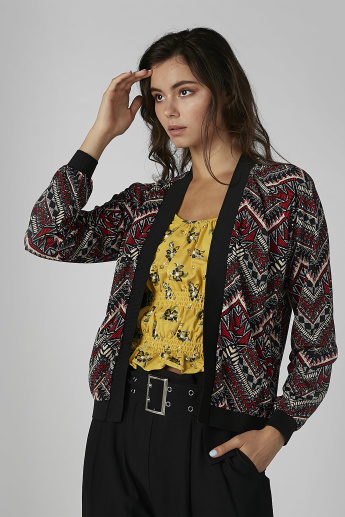 Printed Jacket with Long Sleeves