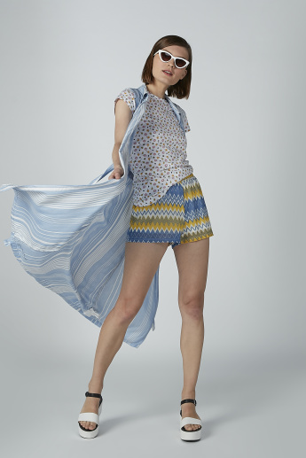 Printed Shorts with Elasticised Waistband
