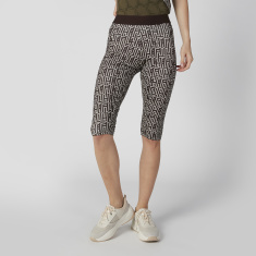 Expo 2020 Skinny Fit Printed Shorts with Elasticised Waistband