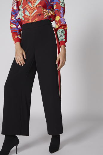 Elle Full Length Palazzo Pants with Elasticised Waistband