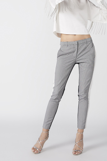 Elle Chequered Trousers with Pocket Detail