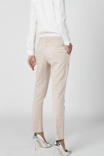 ELLE Textured Trousers with Pocket Detail