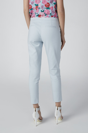 ELLE Plain Trousers with Slit and Pocket Detail