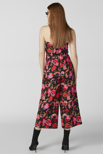 ELLE Floral Printed Off Shoulder Jumpsuit