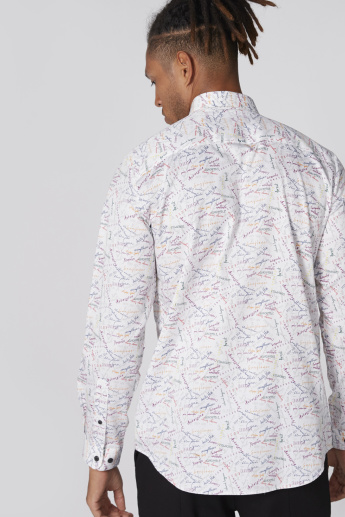 L'Homme Printed Shirt with Long Sleeves and Complete Placket