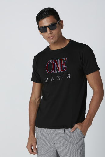 L'Homme Embroidered T-Shirt with Short Sleeves