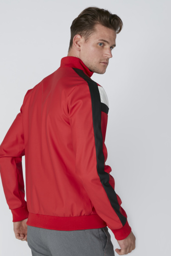 L'Homme Tape Detail Jacket with Long Sleeves and Zip Closure