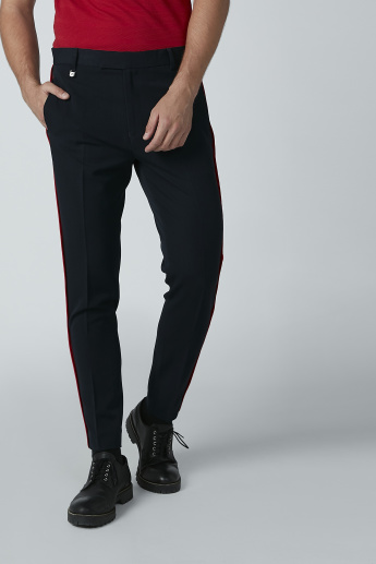 L'Homme Full Length Trousers with Tape and Pocket Detail