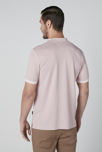 L'Homme Polo Neck T-Shirt with Zip Detail