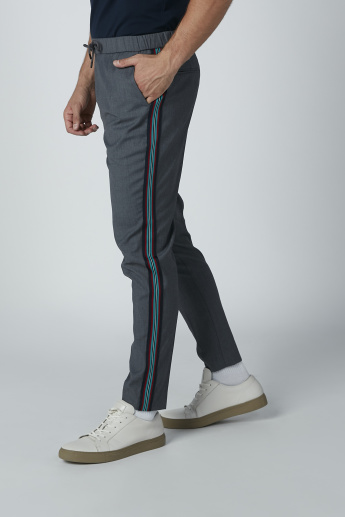 L'Homme Side Tape Detail Pants with Pockets and Drawstring