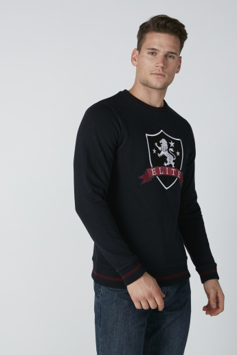 L'Homme Embroidered Sweatshirt with Long Sleeves