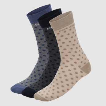 Being Human Polka Dots Quarter Socks - Set of 3