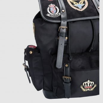 Iconic Embroidered Backpack with Flap