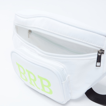Printed Fanny Pack with Buckle Closure