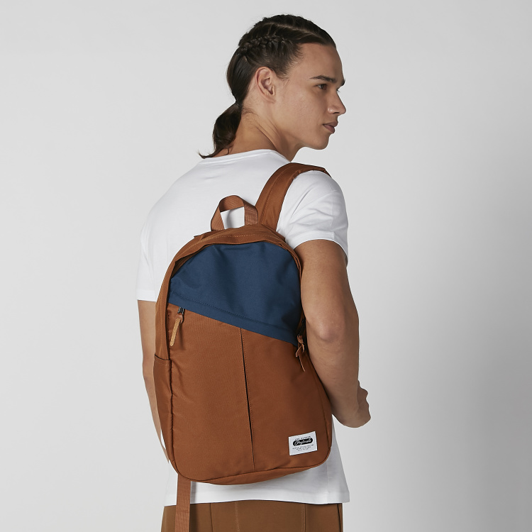 Textured Backpack with Adjustable Shoulder Straps and Zip Closure