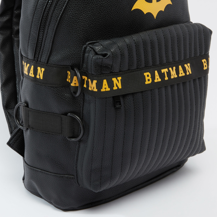 Batman Printed Backpack with Adjustable Shoulder Straps
