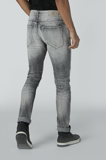 CR7 Distressed Jeans with Pocket Detail