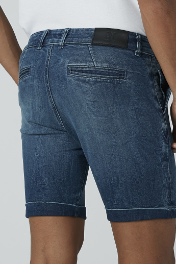 CR7 Pocket Detail Denim Shorts