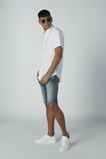 CR7 Denim Shorts with Pocket Detail