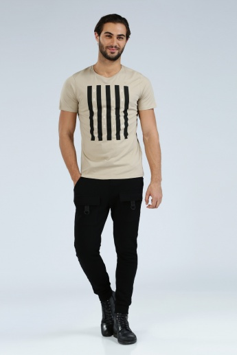 Iconic Printed T-Shirt with Round Neck and Short Sleeves