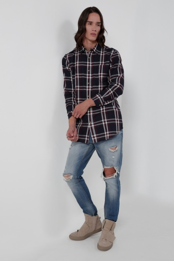 Iconic Chequered Long Sleeves Shirt with Complete Placket
