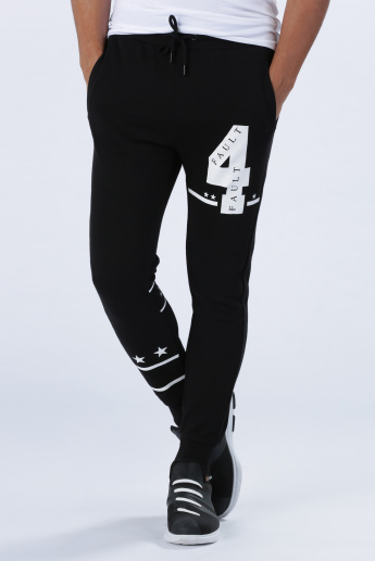 Iconic Printed Full Length Jog Pants with Elasticised Waistband