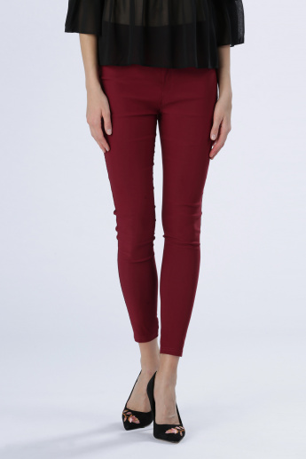 Iconic Full Length Pants with Button Closure