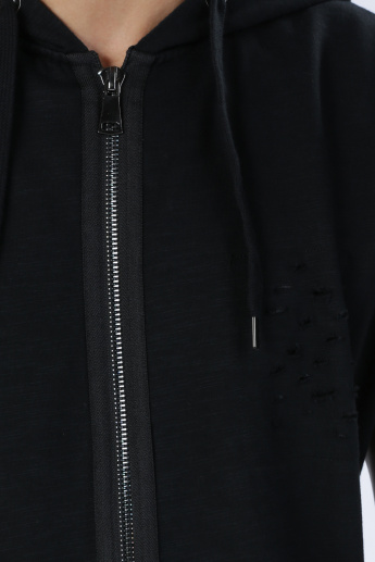 Iconic Jacket with Hood and Zip Closure
