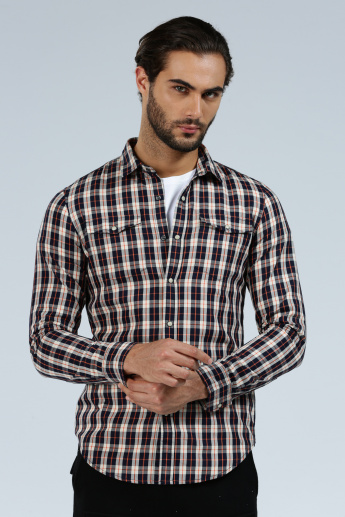 Iconic Chequered Shirt with Long Sleeves