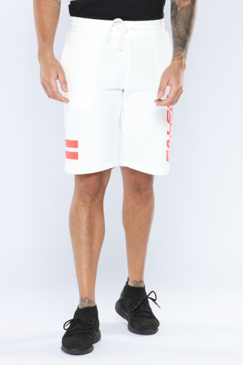 Iconic Printed Shorts with Elasticised Waistband and Drawstring