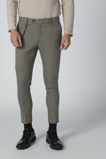 Iconic Chequered Trousers with Pocket Detail