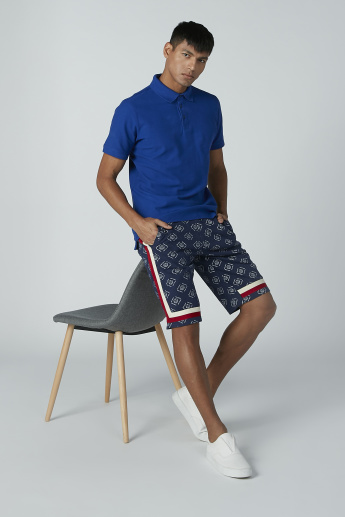 Iconic Printed Shorts with Pocket and Tape Detail