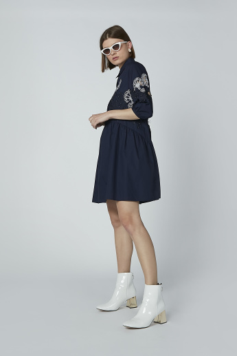 Iconic Embroidered A-line Mini Dress