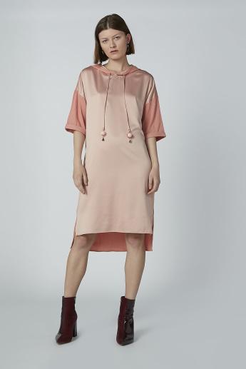 Iconic Midi Shift Dress with Hood