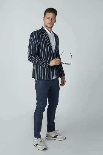 Iconic Striped Blazer with Long Sleeves