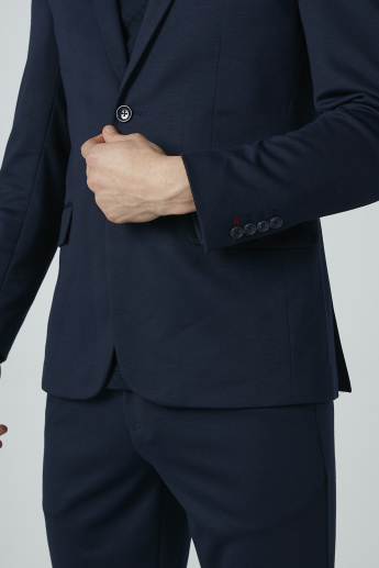 Iconic Long Sleeves Blazer with Notched Lapels and Pocket Detail