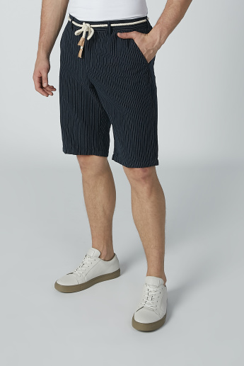 Iconic Striped Shorts with Pocket Detail and Braided Drawstring