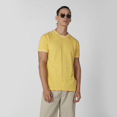 Iconic Plain T-shirt with Crew Neck and Short Sleeves