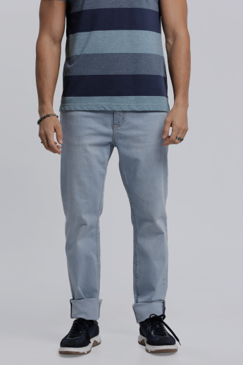 Lee Cooper Full Length Denim Pants in Regular Fit