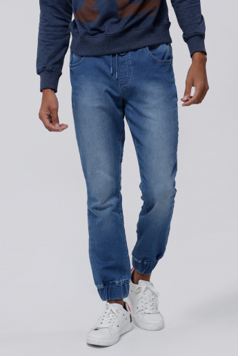 Lee Cooper Denim Jog Pants with Drawstring