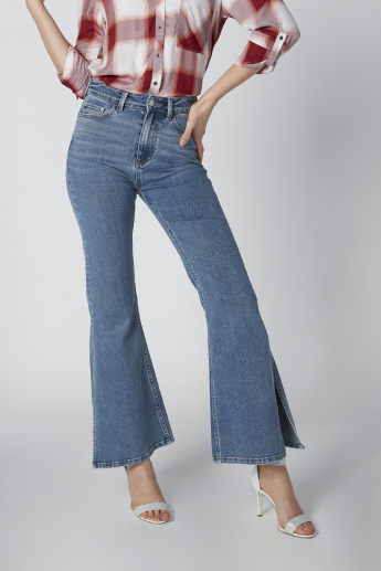Sustainability Full Length High Waist Jeans in Bootcut Fit
